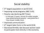 social stability