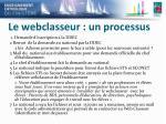 le webclasseur un processus