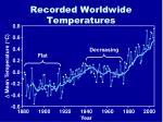 recorded worldwide temperatures