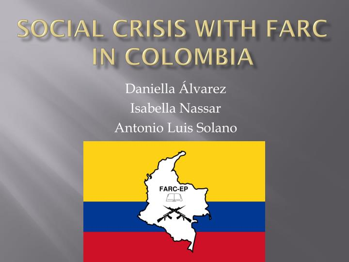 social crisis with farc in colombia n.