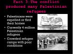 fact 3 the conflict produced many palestinian refugees