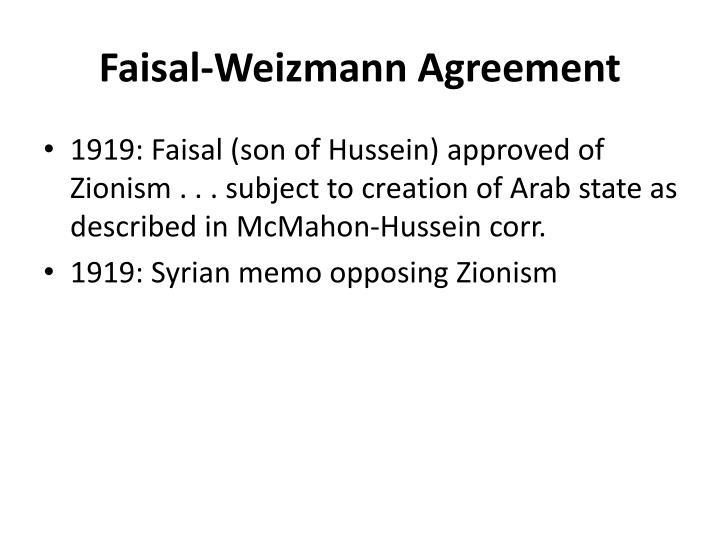 Faisal Weizmann Agreement Images Agreement Letter Format