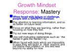 growth mindset response mastery