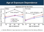 age at e xposure dependence