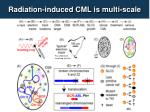 radiation induced cml is m ulti scale