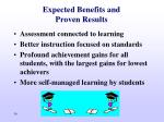 expected benefits and proven results