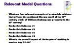 relevant model questions