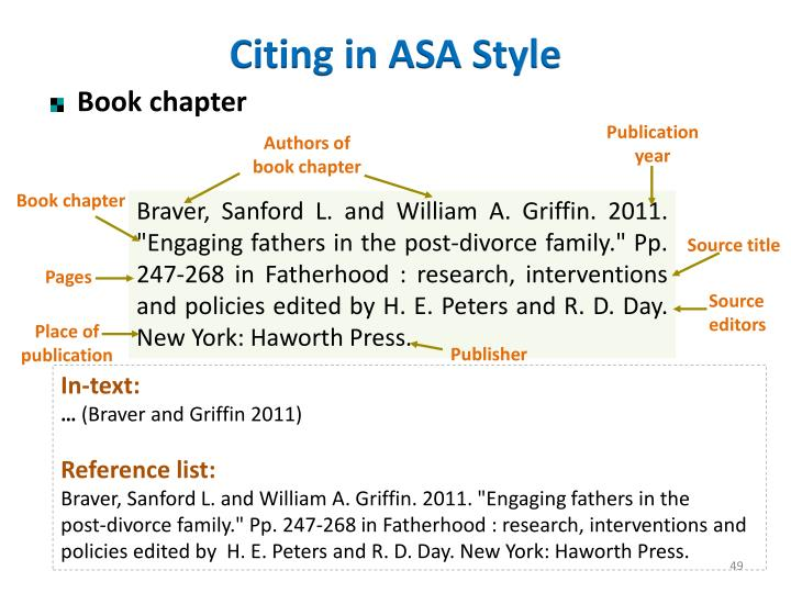 Citing in ASA Style