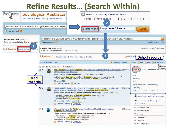 Refine Results… (Search Within)