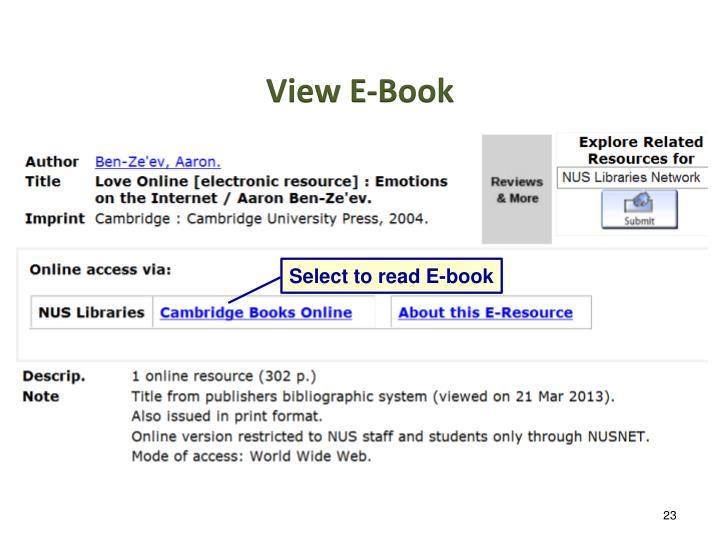 View E-Book