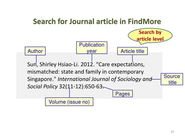 Search for Journal article