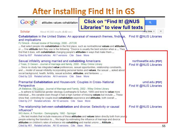 After installing Find It! in GS