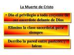 la muerte de cristo