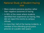 national study of student hazing 20081