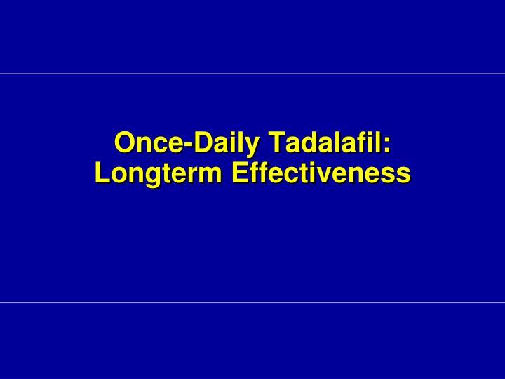 Once-Daily Tadalafil:
