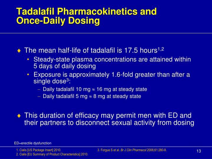 Tadalafil Pharmacokinetics and