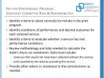 pay for performance program oversight committee role responsibilities