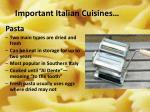 important italian cuisines