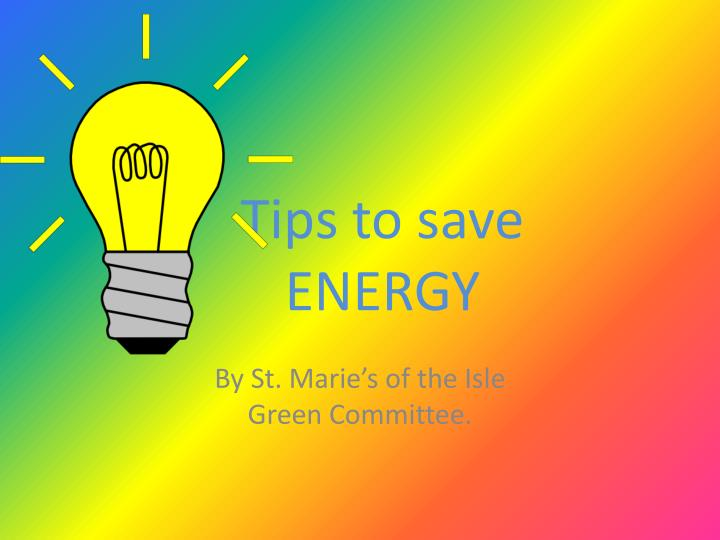 tips to save energy n.