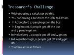 treasurer s challenge