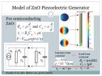 model of zno piezoelectric generator