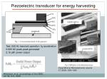 piezoelectric transducer for energy harvesting