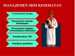 manajemen sdm kesehatan