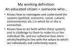 my working definition an educated citizen someone who
