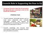 councils role in supporting the poor in fiji