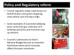 policy and regulatory reform