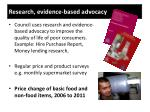 research evidence based advocacy
