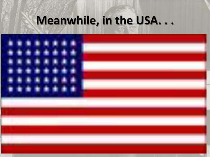 Meanwhile in the usa
