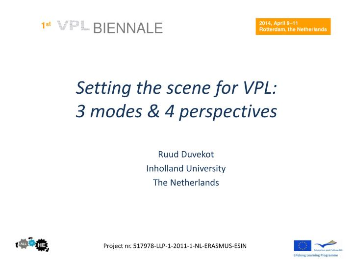 setting the scene for vpl 3 modes 4 perspectives n.