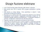 dizajn fuzione elektrane