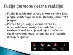 fuzija termonuklearne reakcije