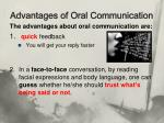 advantages of oral communication