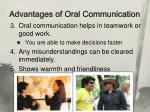 advantages of oral communication1