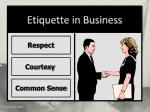 etiquette in business