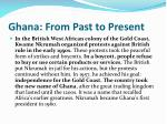 ghana from past to present