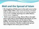 mali and the spread of islam