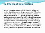 the effects of colonization