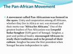 the pan african movement