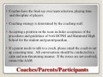 coaches parents participants