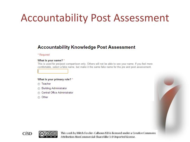 Accountability Post Assessment