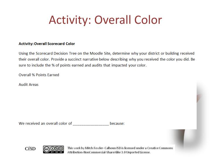 Activity: Overall Color