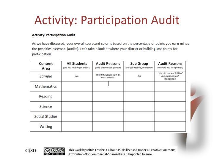 Activity: Participation Audit