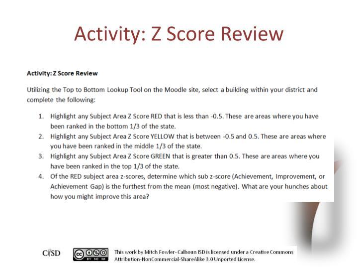 Activity: Z Score Review