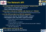 the network api