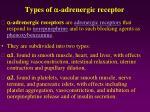 types of adrenergic receptor