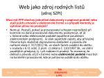 web jako zdroj rodn ch list zdroj szpi1